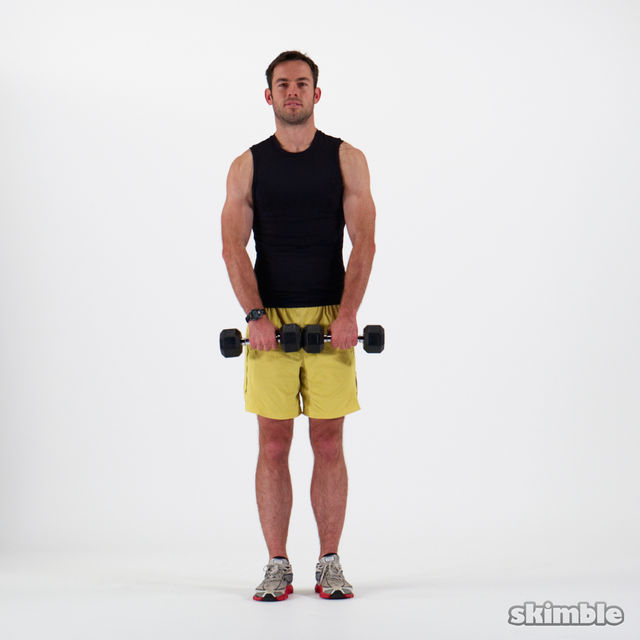 How to do: Dumbbell Upright Rows - Step 1