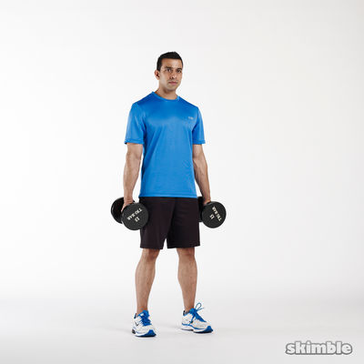 Upper body dumbbell hell
