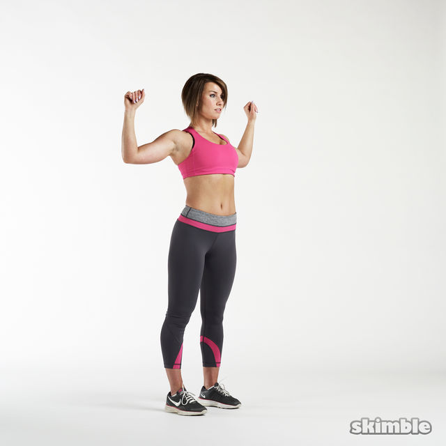 How to do: Elbow To Knee Twists - Step 2
