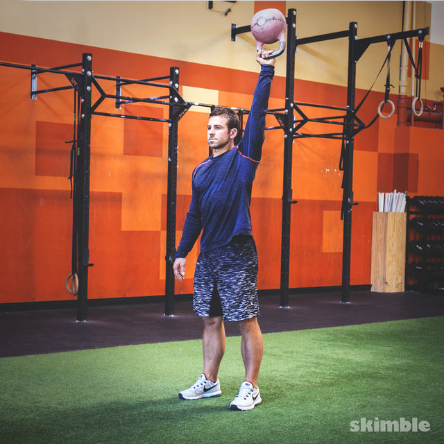 How to do: Kettlebell Left Arm Bottoms Up Press - Step 2