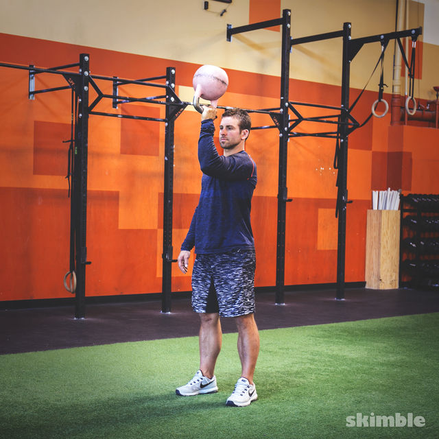 How to do: Kettlebell Left Arm Bottoms Up Press - Step 1
