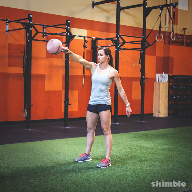 How to do: Alternating Kettlebell Swings - Step 6
