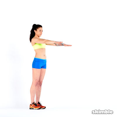 Lunges with Rotation (10 Each Side)