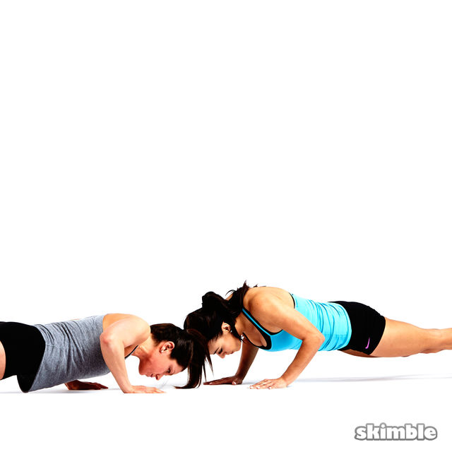 How to do: Partner Push-Ups with Shoulder Taps - Step 4