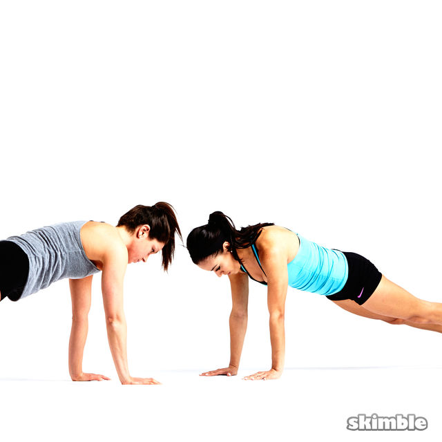 How to do: Partner Push-Ups with Shoulder Taps - Step 5