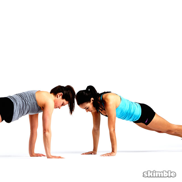How to do: Partner Push-Ups with Shoulder Taps - Step 7