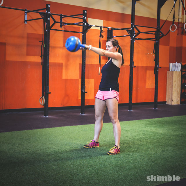 How to do: Left Arm Kettlebell Swings - Step 2