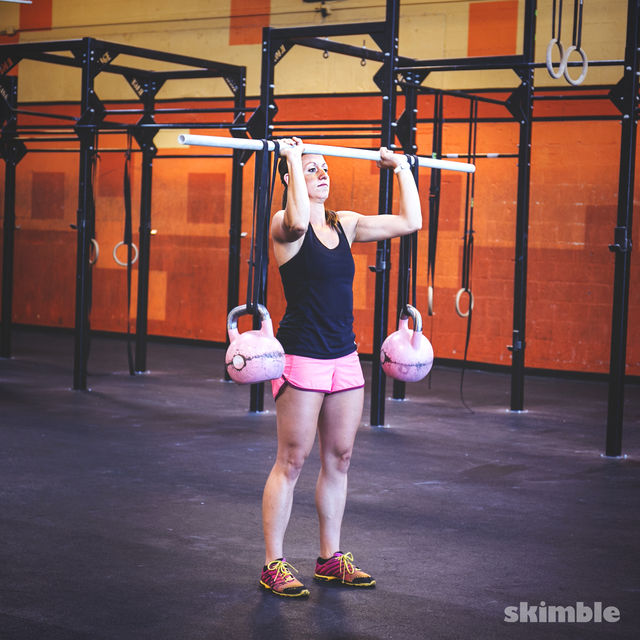 How to do: Kettlebell Stability Shoulder Press - Step 2
