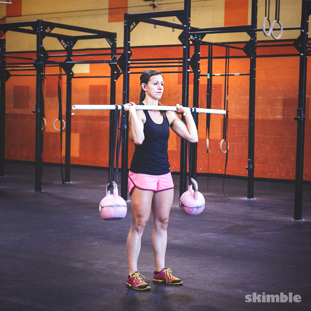 How to do: Kettlebell Stability Shoulder Press - Step 1