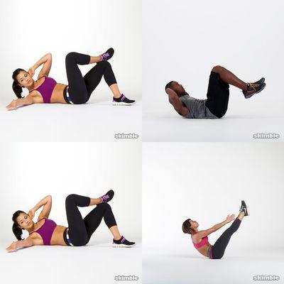 Bauch und Rücken