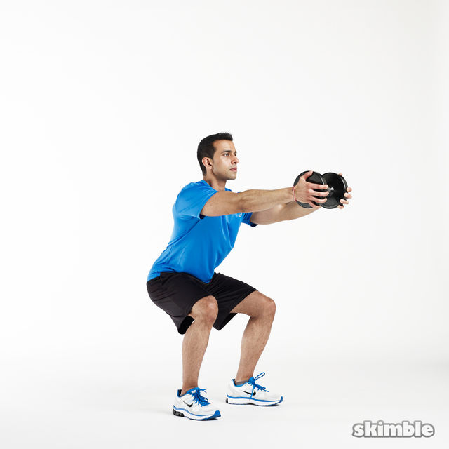 How to do: Vertical Goblet Squats - Step 2