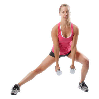 Dumbbell Side Lunge Hammer Curls