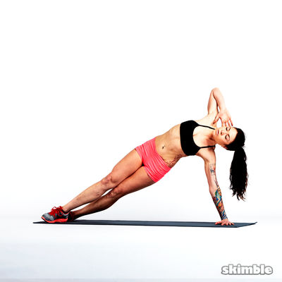 Right Side Plank Crunches