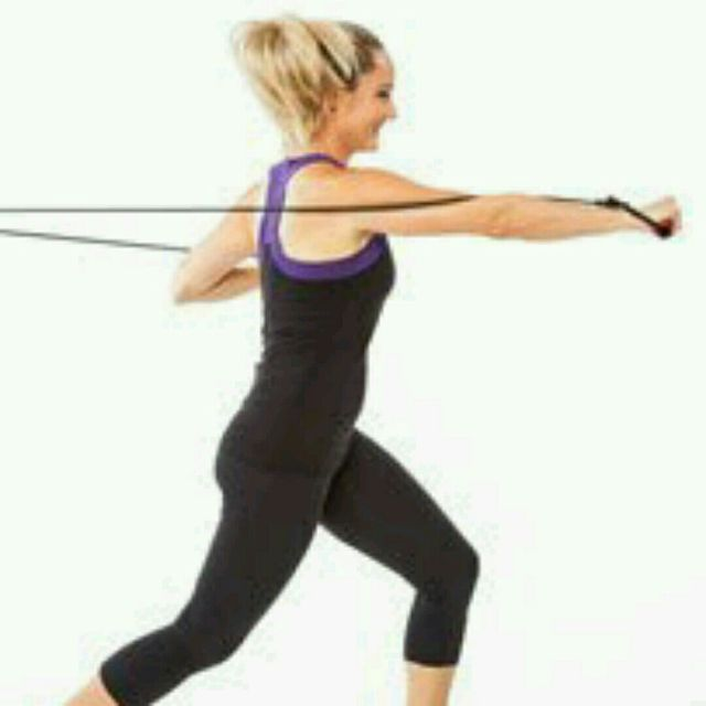How to do: Resistance Band Straight Punch - Step 1