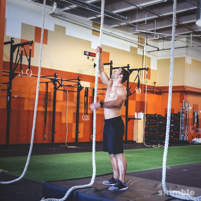 How to do: L Rope Climb - Step 1