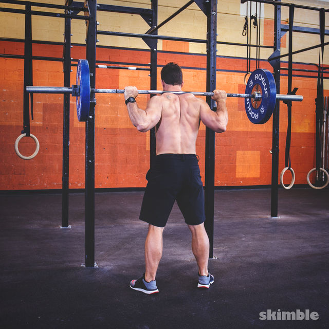 How to do: Barbell Back Loaded Squats - Step 2
