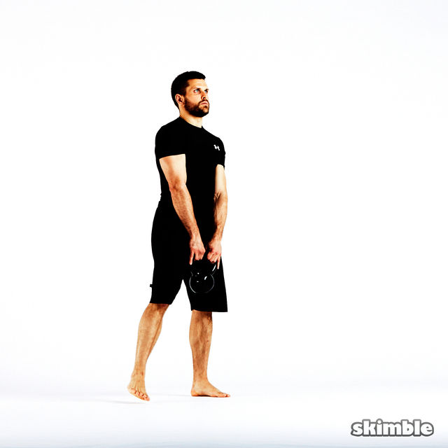 How to do: Alternating Lateral Lunges with Kettlebell - Step 5