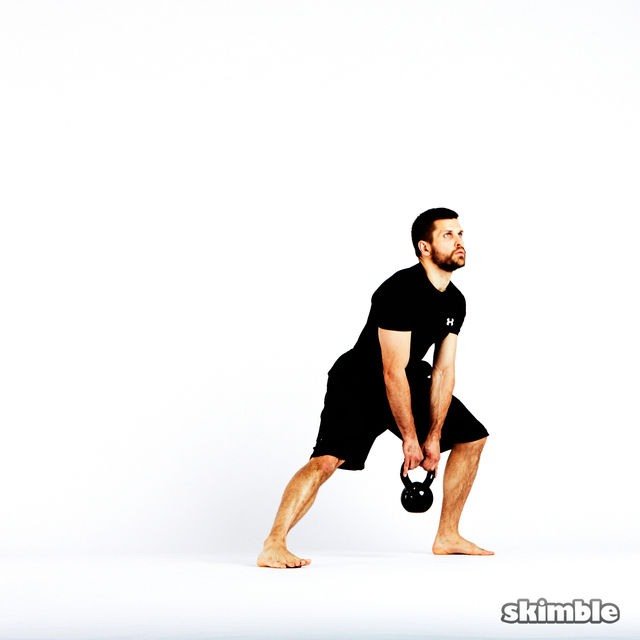 How to do: Alternating Lateral Lunges with Kettlebell - Step 4