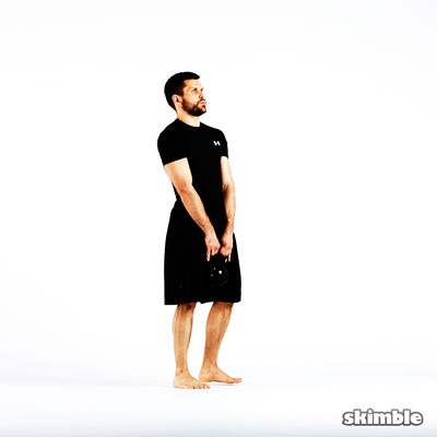 Alternating Lateral Lunges with Kettlebell