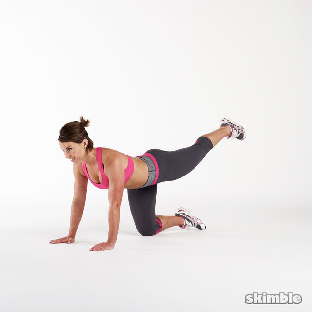 How to do: Glute Combo Kickback - Step 1