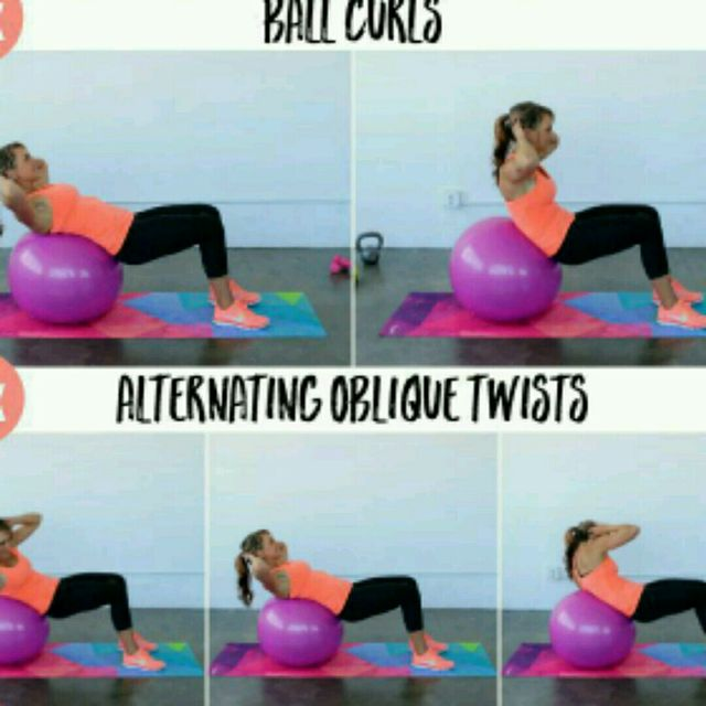 How to do: Body Ball Workout - Step 1