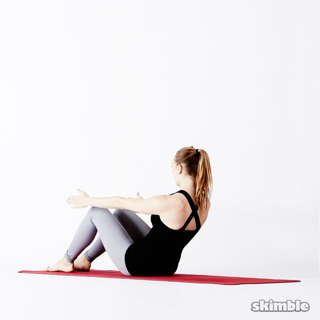 How to do: Supine Butterfly - Step 2