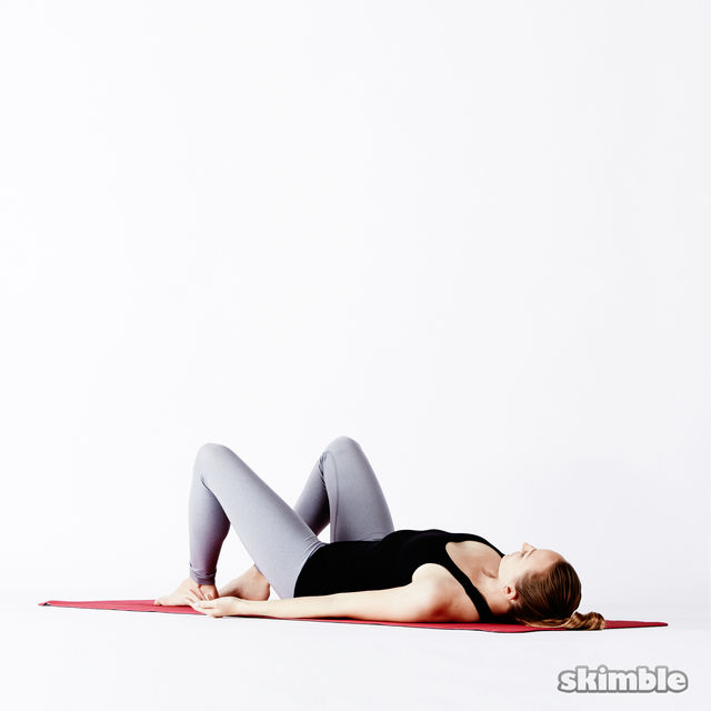 How to do: Supine Butterfly - Step 3
