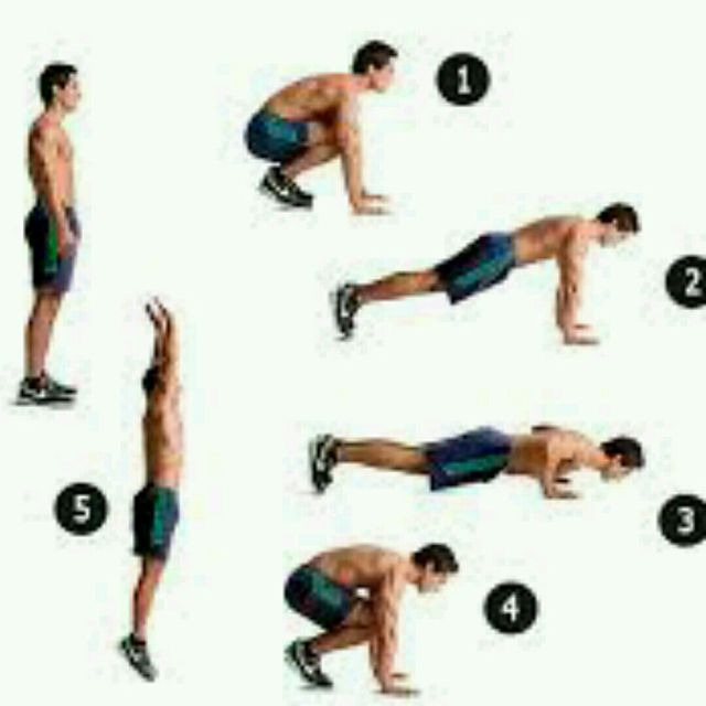How to do: Burpee Push-ups - Step 1