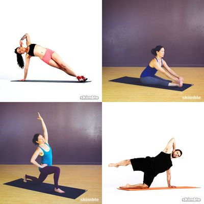 Pilates and stretching