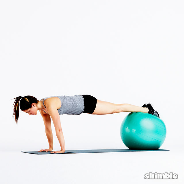 How to do: Plank on Ball - Step 1