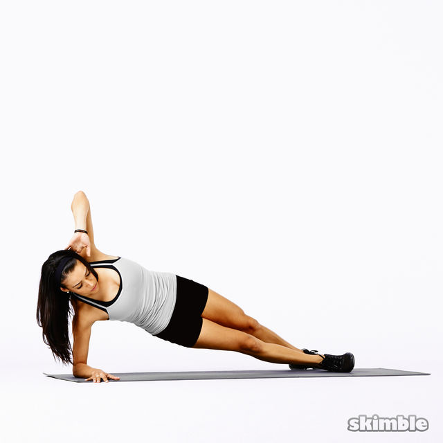 How to do: Right Side Plank Rainbows - Step 1
