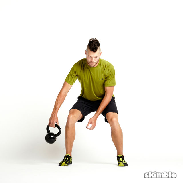 How to do: Kettlebell Figure Eights - Step 6
