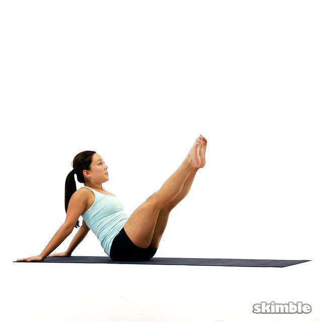 How to do: Pilates Hip Circles - Step 1