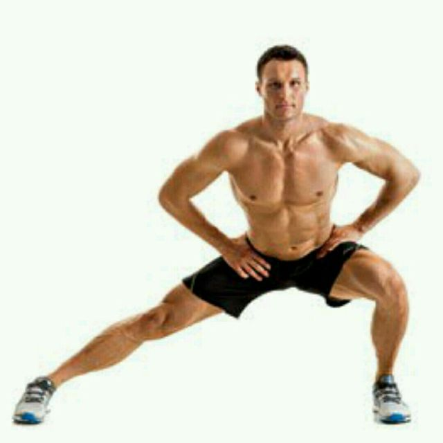 How to do: Sliding Lateral Lunges - Step 1