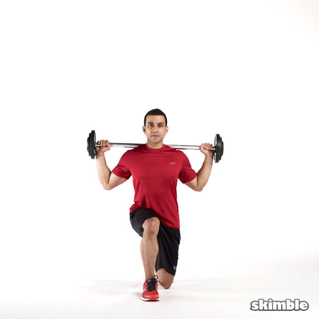 How to do: Barbell Lunges - Step 3