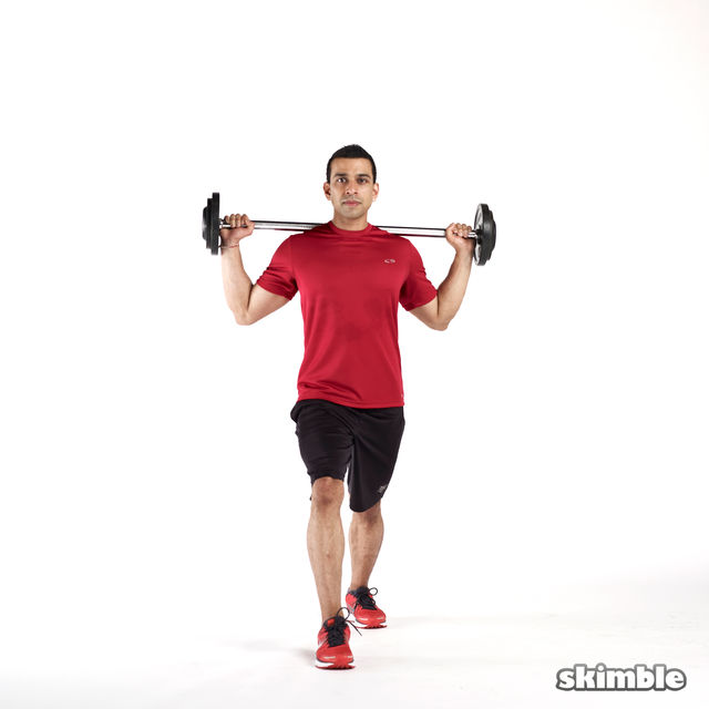 How to do: Barbell Lunges - Step 2