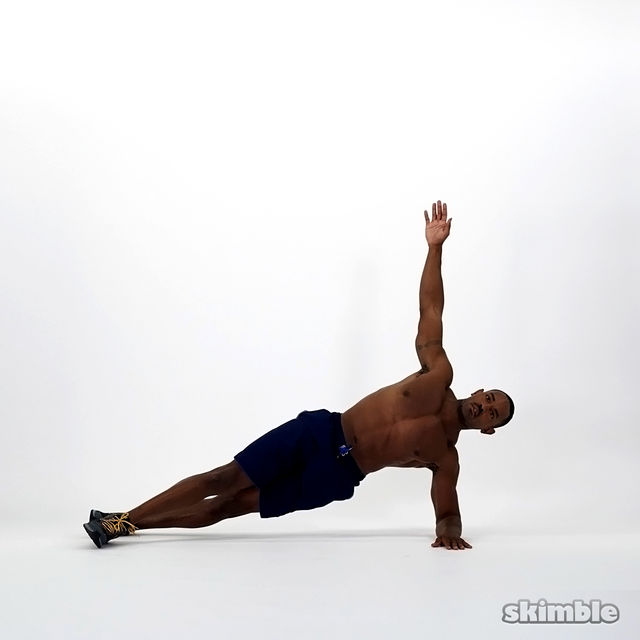 How to do: Left Half Side Plank - Step 1