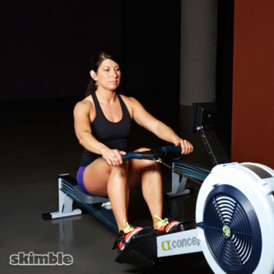 Rowing machine and Core burn