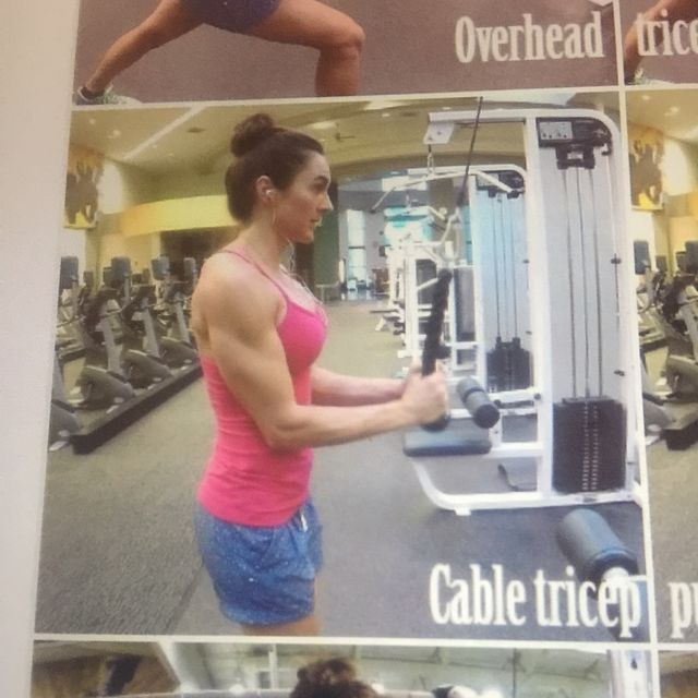 How to do: Cable Tricep pull down - Step 1