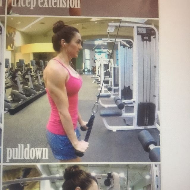How to do: Cable Tricep pull down - Step 2