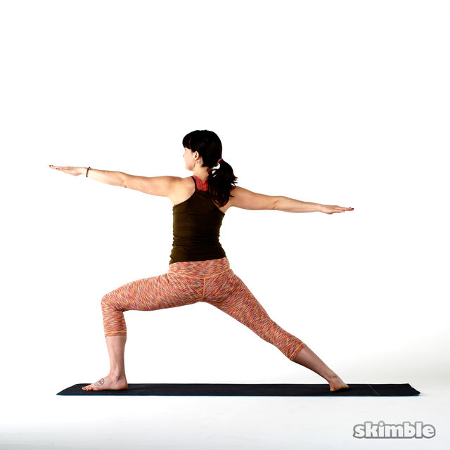 How to do: Left Peaceful Warrior - Step 1