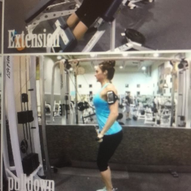 How to do: Straight Arm Pulldown - Step 2