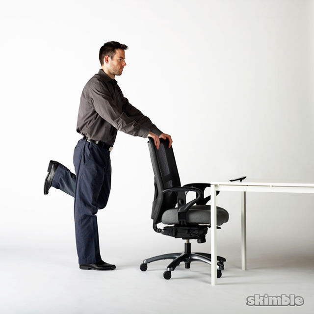 How to do: Chair Butt Kickers - Step 4