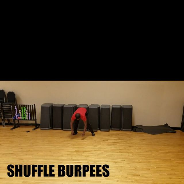 How to do: Shuffle burpees - Step 1