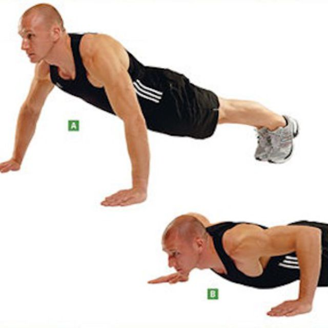 How to do: Wide Push Ups - Step 1