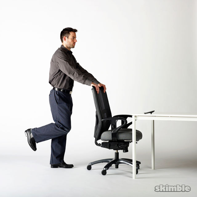 How to do: Chair Butt Kickers - Step 1