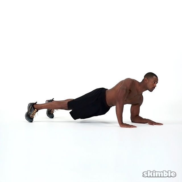 How to do: Elbows to Hands Plank - Step 2