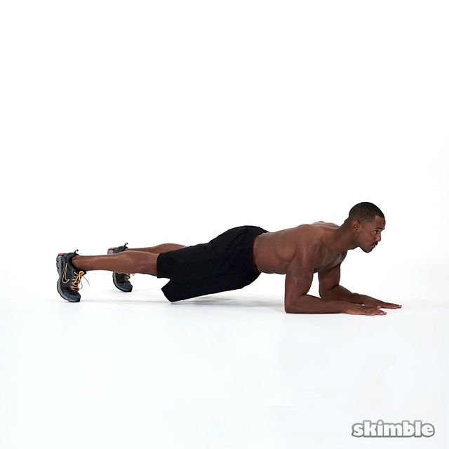 How to do: Elbows to Hands Plank - Step 1
