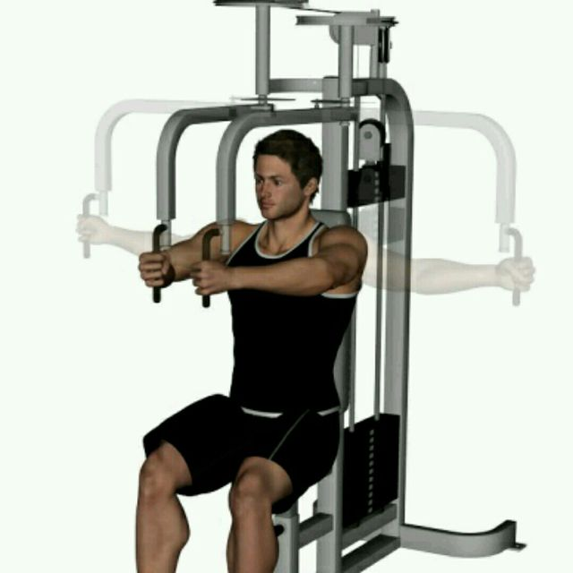 How to do: Gym Open Arm Pec Flys - Step 1