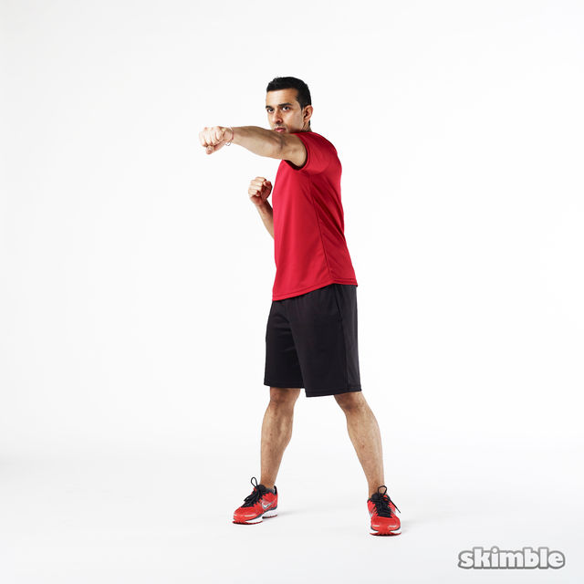 How to do: Left Jabs - Step 2